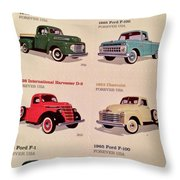 Ford Truck Stamps Throw Pillow