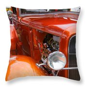 Ford V8 Right Side View Throw Pillow