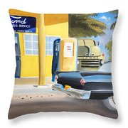 Fords Only  Throw Pillow