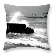 Foreboding Tide Throw Pillow