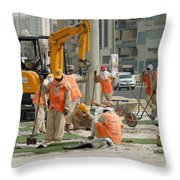 Foreign Workers - Manama Bahrain Throw Pillow