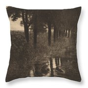 Forellenweiher (trout Pond) Throw Pillow