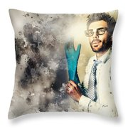 Forensic Analysis With Crime Scene Intelligence Throw Pillow
