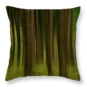 Forest Abstract01 Throw Pillow