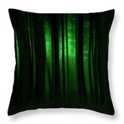 Forest Abstract03 Throw Pillow