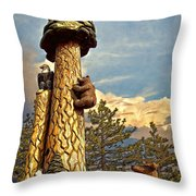 Forest Animals Throw Pillow