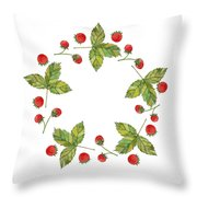 Forest Berries Throw Pillow