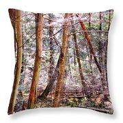 Forest Bling Throw Pillow