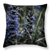 Forest Blues Throw Pillow