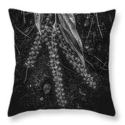Forest Botanicals In Black And White Throw Pillow