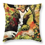 Forest Brook By August Macke Throw Pillow