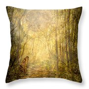 Forest Butterfly Moon Throw Pillow