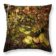 Forest Butterfly Throw Pillow