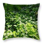 Forest Carpet Throw Pillow