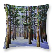 Forest Cathedral Throw Pillow