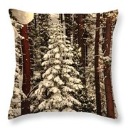 Forest Christmas Tree Throw Pillow