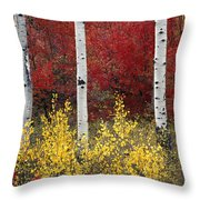 Forest Color Throw Pillow