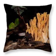 Forest Coral Fungi Throw Pillow