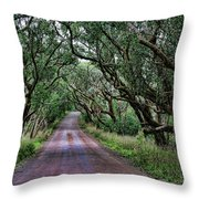 Forest Corridor Throw Pillow