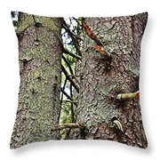 Forest Corrosion Bark Throw Pillow