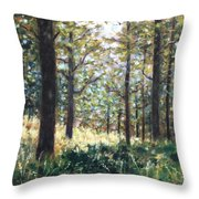 Forest- County Wicklow - Ireland Throw Pillow