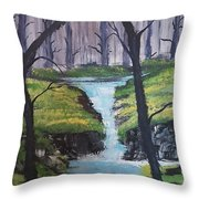 Forest Doors Are Open Throw Pillow  sc 1 st  Fine Art America & Forest Doors Are Open Painting by M Crosby
