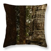 Forest Face Throw Pillow