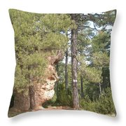 Forest Face Throw Pillow