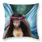 Forest Fairy Queen Throw Pillow