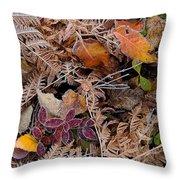 Forest Ferns Throw Pillow