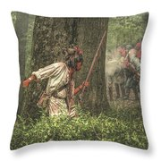 Forest Fight Throw Pillow by Randy Steele