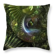Forest Floor Fantasy Throw Pillow