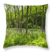 Forest Floor Dame's Rocket Throw Pillow