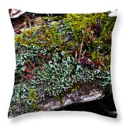 Forest Floral Delight Throw Pillow