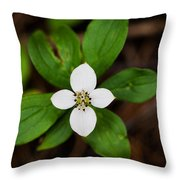 Forest Flower Throw Pillow