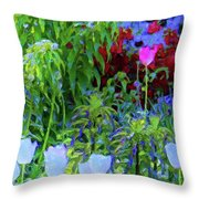 Forest Flowers Different One Throw Pillow