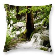 Forest Flows Throw Pillow