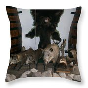 Forest Friendship Throw Pillow