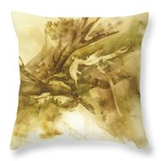 Forest From Above Throw Pillow