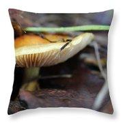 Forest Fungi Throw Pillow