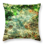 Forest Gathering Throw Pillow