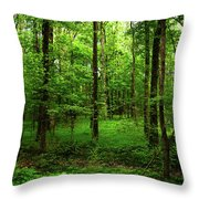 Forest Greenery Throw Pillow