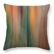 Forest Illusions -autumn Pastels Throw Pillow