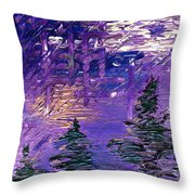 Forest In Lsd Throw Pillow