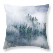 Forest In The Clouds Throw Pillow