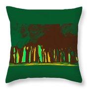 Forest In The Hidden Throw Pillow