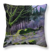 Forest In Wales Throw Pillow