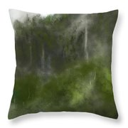 Forest Landscape 10-31-09 Throw Pillow
