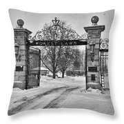 Forest Lawn Gate 4391 Throw Pillow