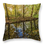 Forest Leaf Reflection Throw Pillow